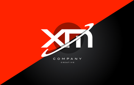 xm: Xm x m  red black white technology swoosh alphabet company letter logo design vector icon template