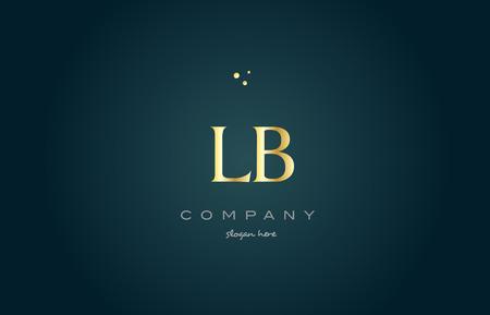 luxo: Lb lb ouro dourado produto de luxo metálico alfabeto empresa carta logotipo design vetorial ícone modelo fundo verde