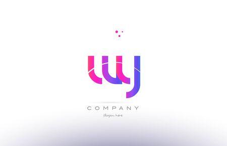 와우, 보라색, 현대, 창작, 그라디언트, 회사, 회사, 로고, 디자인, 일러스트