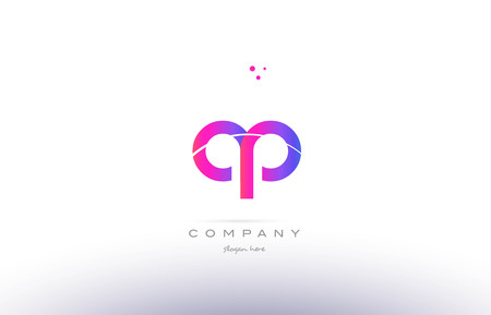 ap: ap a p  pink purple modern creative gradient alphabet company logo design vector icon template Illustration