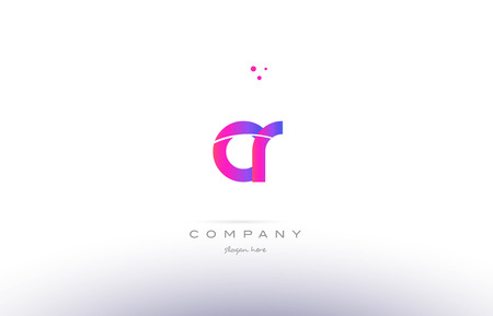 cr: cr c r  pink purple modern creative gradient alphabet company logo design vector icon template
