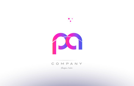 pa p a  pink purple modern creative gradient alphabet company logo design vector icon template