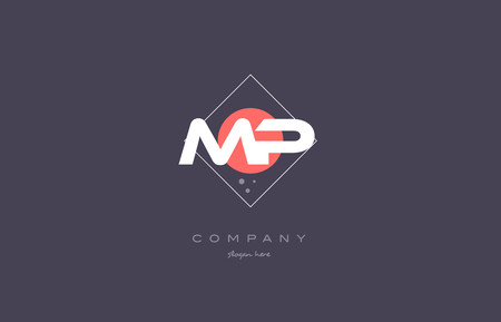 mp: mp m p  vintage retro pink purple rhombus alphabet company letter logo design vector icon creative template background