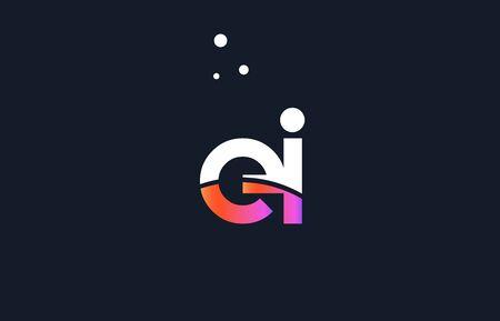ei: EI pink modern creative purple alphabet white blue gradient company letter logo design vector icon template.