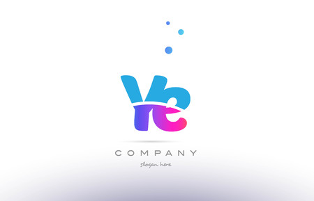 ye: YE pink purple blue white uppercase lowercase modern creative alphabet gradient company letter logo design vector icon template.