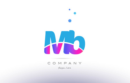 mb: MB pink purple blue white uppercase lowercase modern creative alphabet gradient company letter logo design vector icon template.