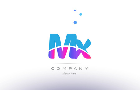 mx: MX pink purple blue white uppercase lowercase modern creative alphabet gradient company letter logo design vector icon template.