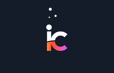 IC pink modern creative purple alphabet white blue gradient company letter logo design vector icon template.