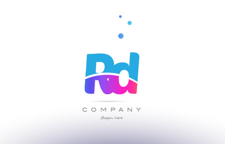 rd: rd r d  pink purple blue white uppercase lowercase modern creative alphabet gradient company letter logo design vector icon template
