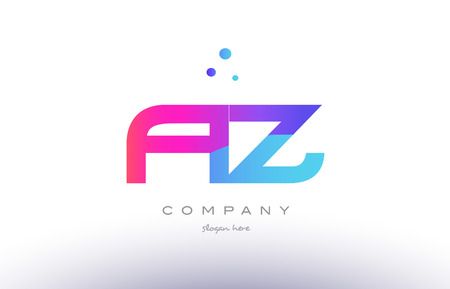 az a z  creative pink purple blue modern dots creative alphabet gradient company letter logo design vector icon template Illustration