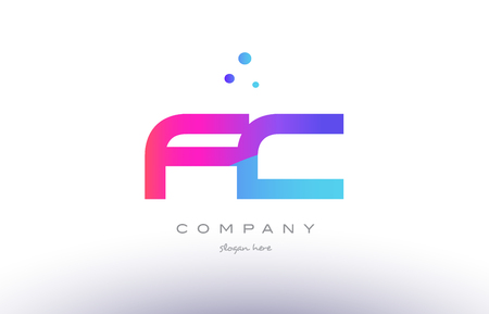 fc f c  creative pink purple blue modern dots creative alphabet gradient company letter logo design vector icon template