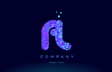 fl f l alphabet pink blue bubble circle dots creative letter company logo vector icon design template Illustration