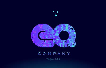 eq alphabet pink blue bubble circle dots logo icon design template