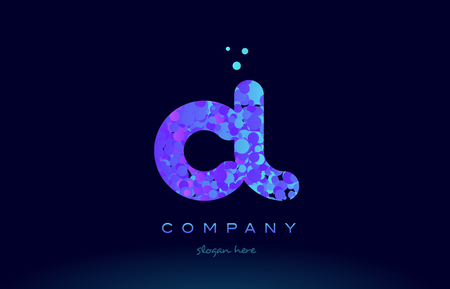 cl c l alphabet pink blue bubble circle dots creative letter company logo vector icon design template Illustration