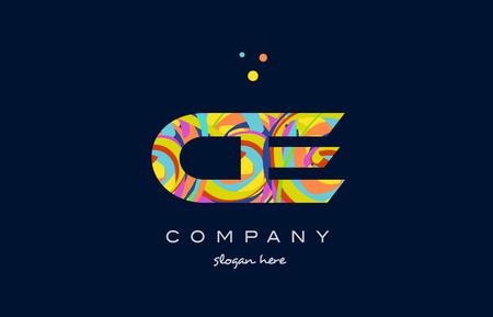 ce c e alphabet letter logo colors colorful rainbow acrylic font creative text dots company vector icon design template Illustration