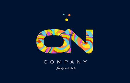 sur le alphabet lettre logo couleurs arc en ciel coloré police acrylique texte créatif points société modèle de conception icône vecteur
