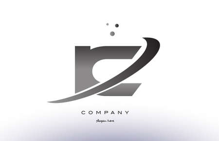 ic: ic i c alphabet letter logo black white grey swoosh silver font creative text dots company vector icon design template