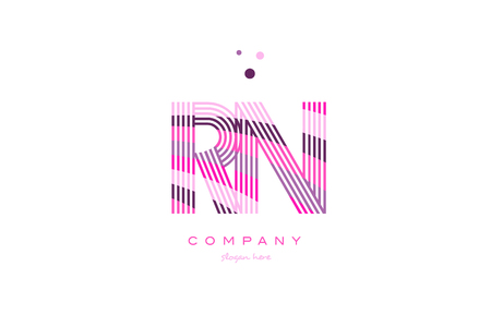 Rn letters stock photos royalty free rn letters images rn r n alphabet letter logo pink purple line font creative text dots company vector icon design altavistaventures Gallery