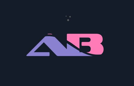 ab a b pink blue magenta alphabet letter logo purple font creative text dots company vector icon design template