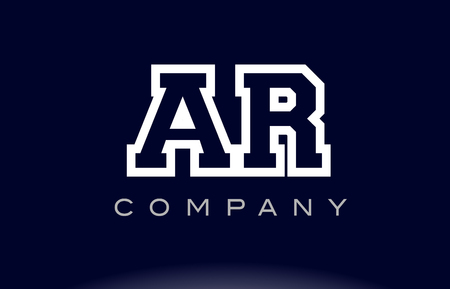 ar: AR A R  alphabet letter combination logo creative company vector icon design template
