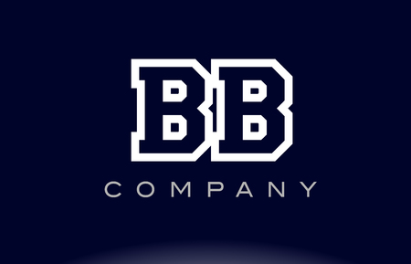 BB B B  alphabet letter combination logo creative company vector icon design template