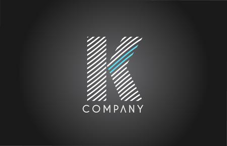 K alphabet logo 3d blue sphere letter blue pink vector creative company icon design template modern