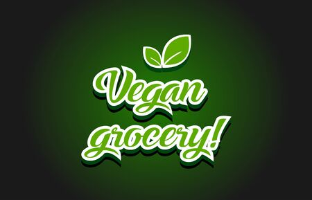 Vegan grocery text logo for creative company template in modern background