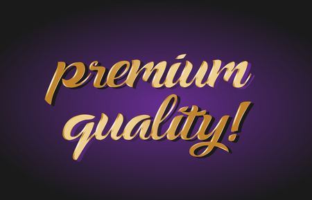 Premium quality hand written text gold golden writing calligraphy
