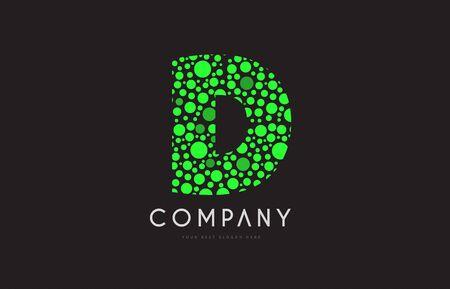 Letter Y Green Bubble Circle Dot Alphabet Letter Bold Logo Vector
