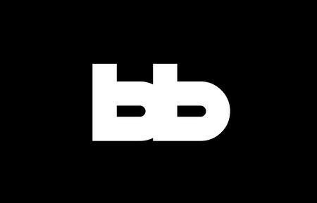 BB B B letter logo combination alphabet