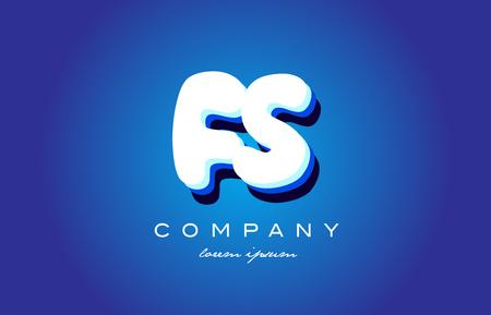 FS F S letter logo combination alphabet Ilustração