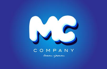 MC M C letter logo combination alphabet