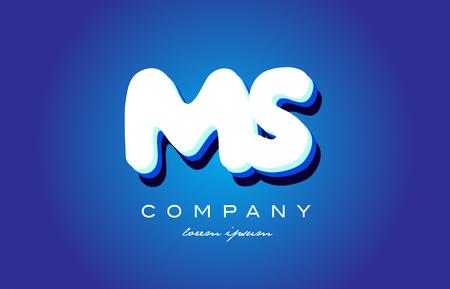 MS M S letter logo combination alphabet