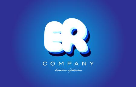 ER E R letter logo combination alphabet