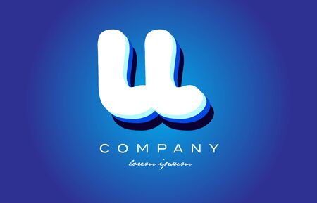 LL L L letter logo combination alphabet