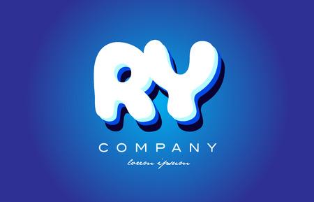 ry: RY R Y letter logo combination alphabet