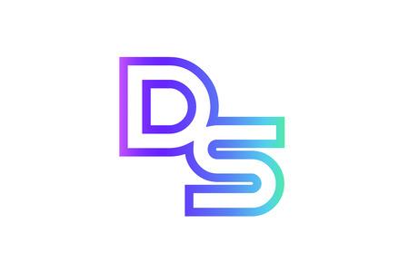DS DS letter logo combinatie alfabet