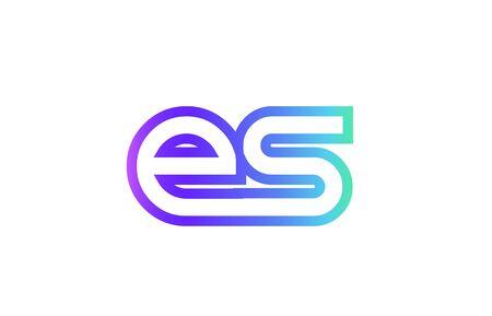 ES E S letter logo combination alphabet