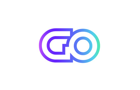 GO G O letter logo combination alphabet