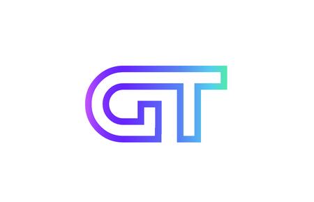 GT G T letter logo combination alphabet