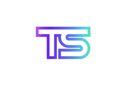 TS T S letter logo combination alphabet
