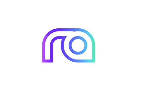 RA R A letter logo combination alphabet