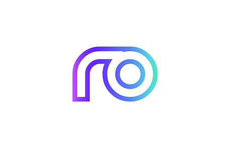 RO R O letter logo combination alphabet