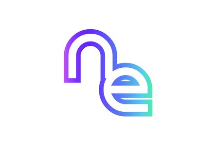 ne: NE N E letter logo combination alphabet