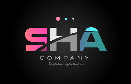 sha: SHA s h a three 3 letter logo combination alphabet