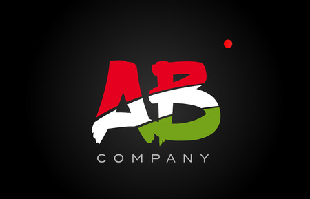 AB A B letter logo combination alphabet Illustration