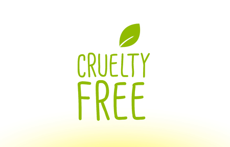 cruelty free green leaf text concept logo Illustration