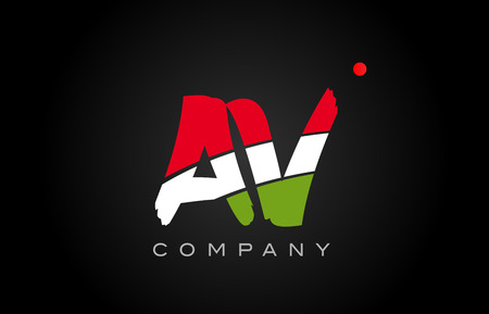 AV A V letter logo combination alphabet