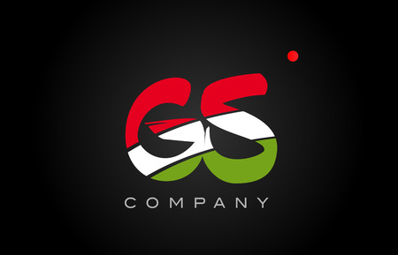 GS G S letter logo combination alphabet