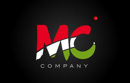 MC M C letter logo combination alphabet vector creative company icon design template modern